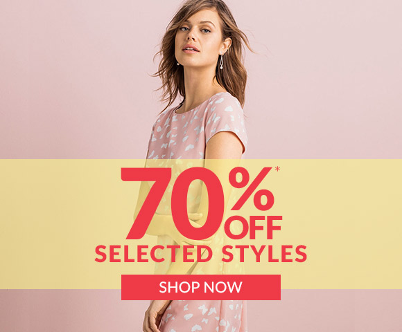 70% off selected fashion