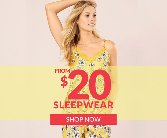 Sleepwear from $20