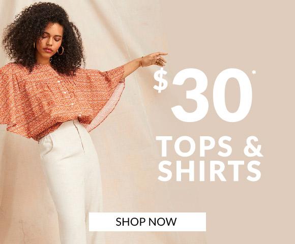 $30 Tops & Shirts