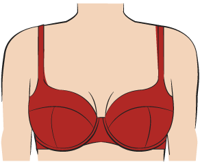 c49bcc2dc8 The Best Bra Style for Sagging Breasts. Balcony Bra