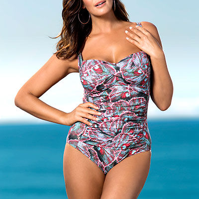 Inverted Triangle body shape beach wear
