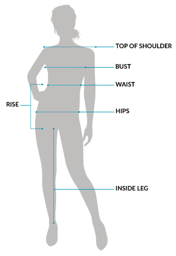f1603265cf9 women s size diagram. TOP OF SHOULDER  Measuring the width of your  shoulders can help you determine your body ...
