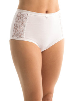 Triumph Cotton and Lace Brief - 101723