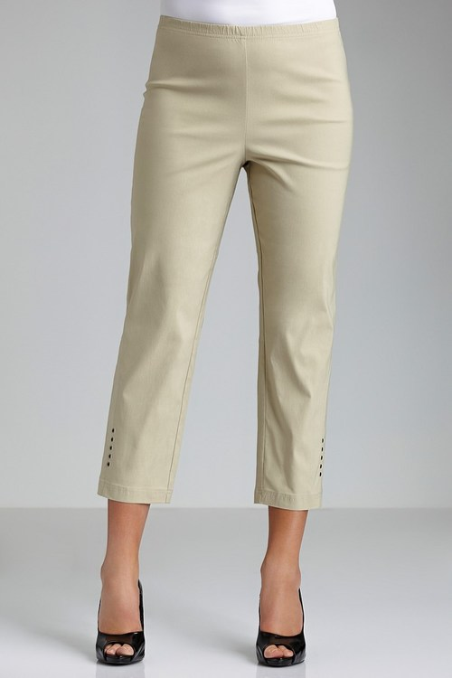 Plus Size - Sara 3/4 Bengaline Pants