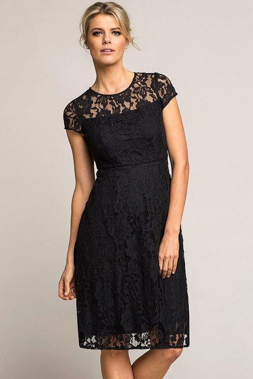 Emerge Sheer Top Lace Fit And Flare Dress Online Shop Ezibuy
