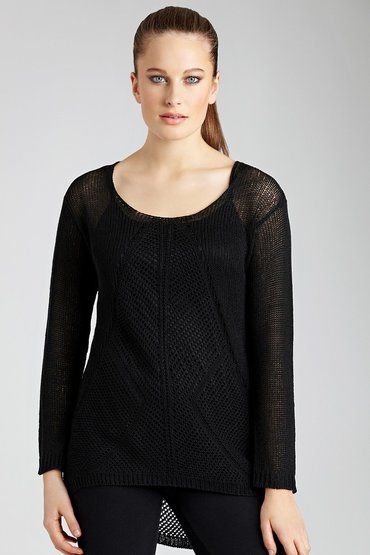 Emerge Mesh Sweater with Free Camisole