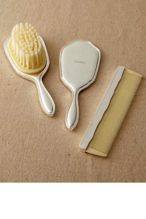 Personalised Brush, Mirror & Comb Set
