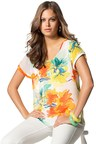 Emerge Floral Print Woven Tee