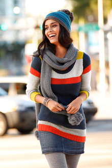 Urban Stripe Long Pullover