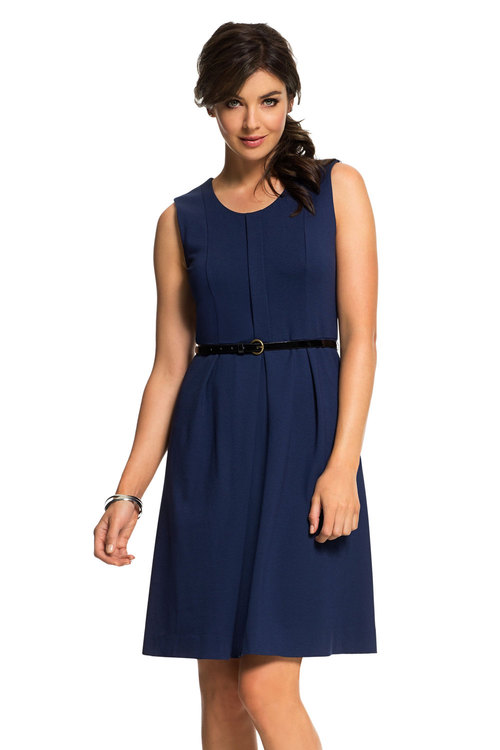 Emerge Ponte Belted Dress