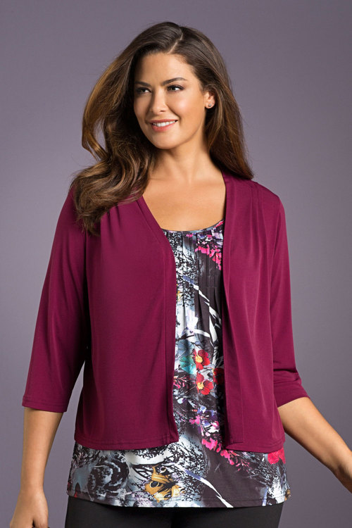 Plus Size - Sara Pleat Detail Shrug