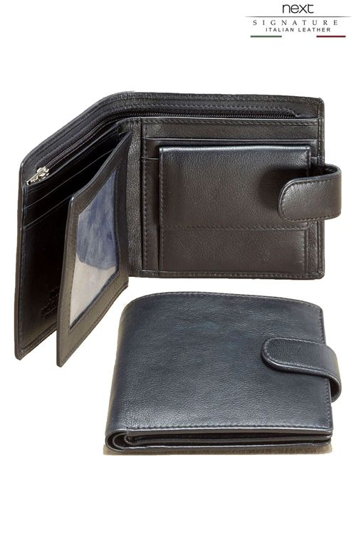 103f1e89f4 Next Signature Italian Leather Extra Capacity Popper Wallet Online ...