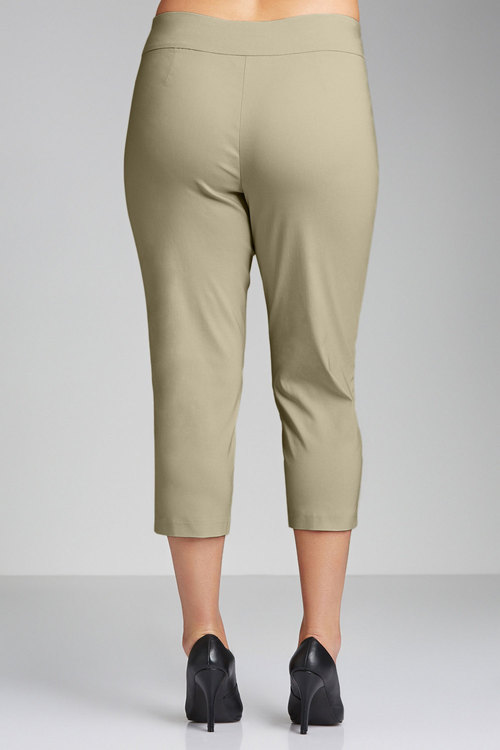 Plus Size - Sara Pull-On Bengaline Pants
