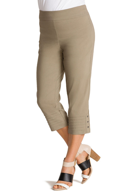 Plus Size - Sara Pull-On Bengaline Pants