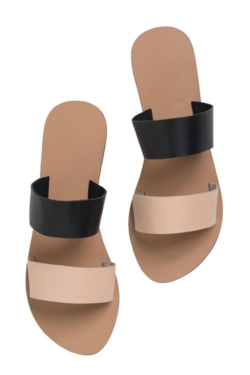 Leather Double Strap Sandal