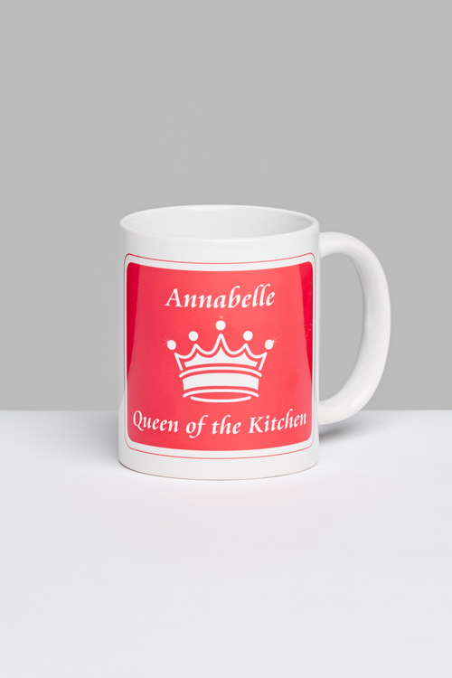 Personalised Queen of the Kitchen Mug