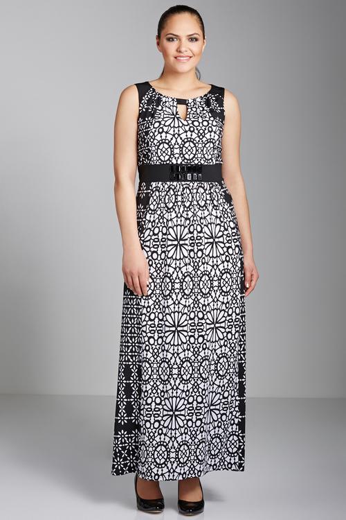 Plus Size - Sara Notch Neck Maxi Dress