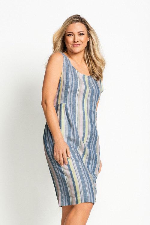 d1eae0b48267 Plus Size - Sara Sleeveless Linen Dress