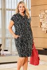 Plus Size - Capture Woman V Neck Dress