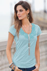 Together Lace Trim Tee shirt