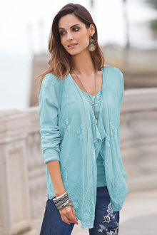 Together Lace Front Cardigan