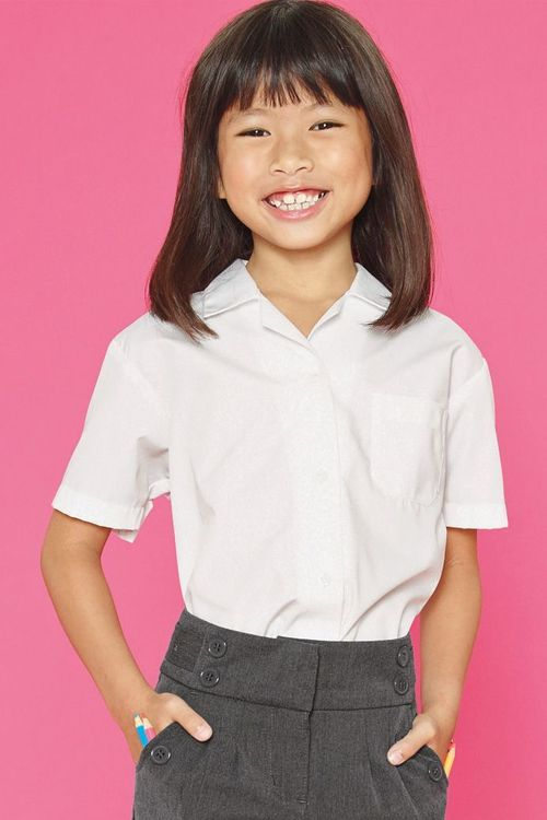 Next White Short Sleeve Blouse Two Pack (3-16yrs)