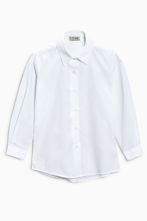 Next White Long Sleeve Formal Blouse Two Pack (3-16yrs)