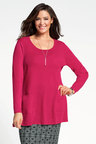 Plus Size - Sara Merino Swing Pocket Tunic