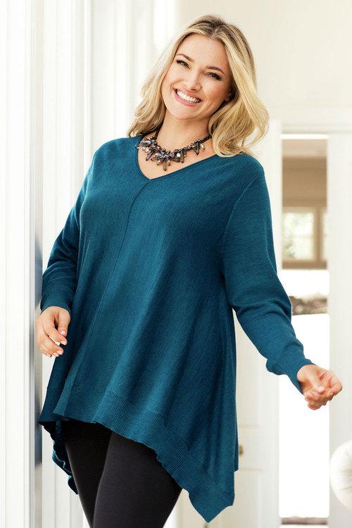 Plus Size - Sara Merino Trapeze Sweater