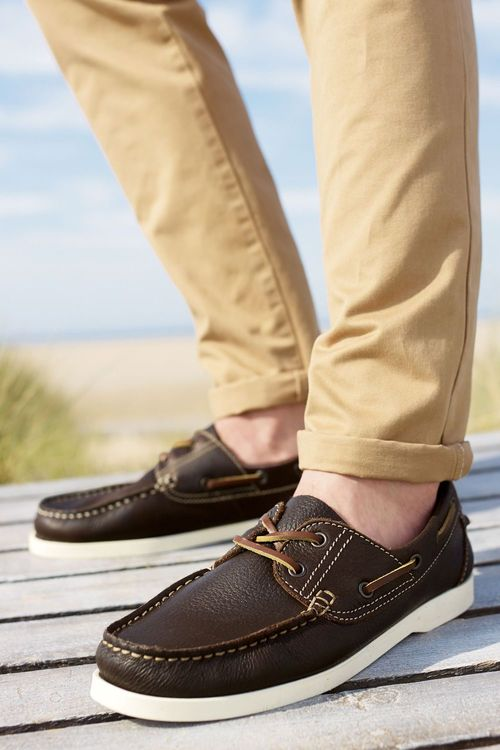 Next Leather Boat Shoe