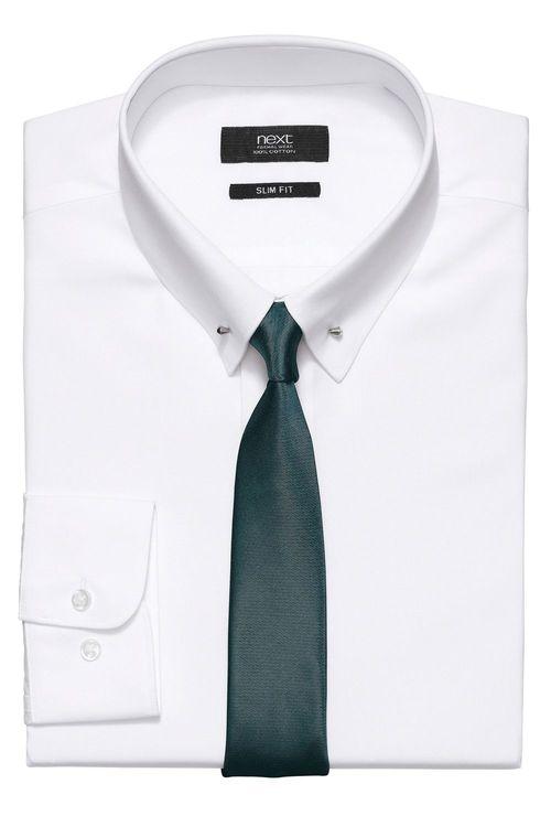 Next Plain Button Down Shirt
