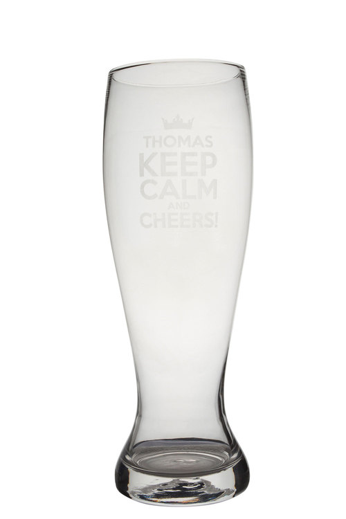 Personalised Giant Beer Glass - Keep Calm