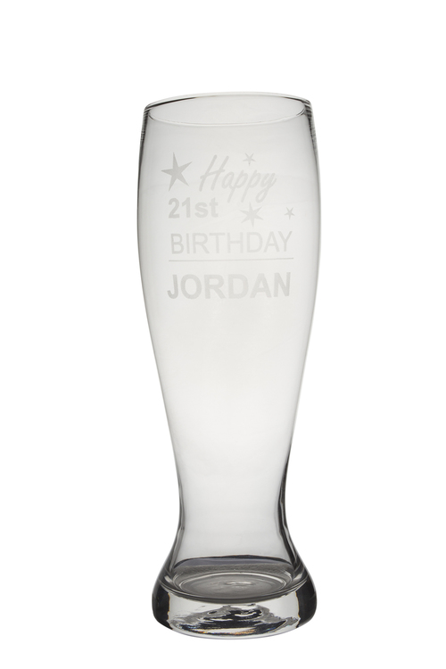 Personalised Giant Beer Glass - Birthday
