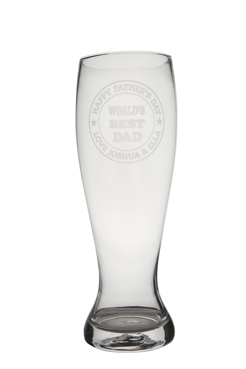 Personalised Giant Beer Glass - World's Best Dad