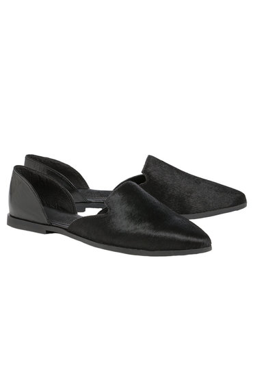 Leather Two Part Point Loafer