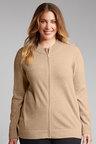 Plus Size - Sara Lambswool Zip Front Cardigan