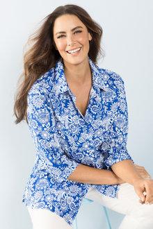 Plus Size - Sara Poplin Shirt - 126705