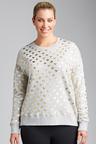 Plus Size - Sara Heart Print Sweater
