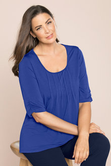 Plus Size - Sara Scoop Neck Tee - 126947
