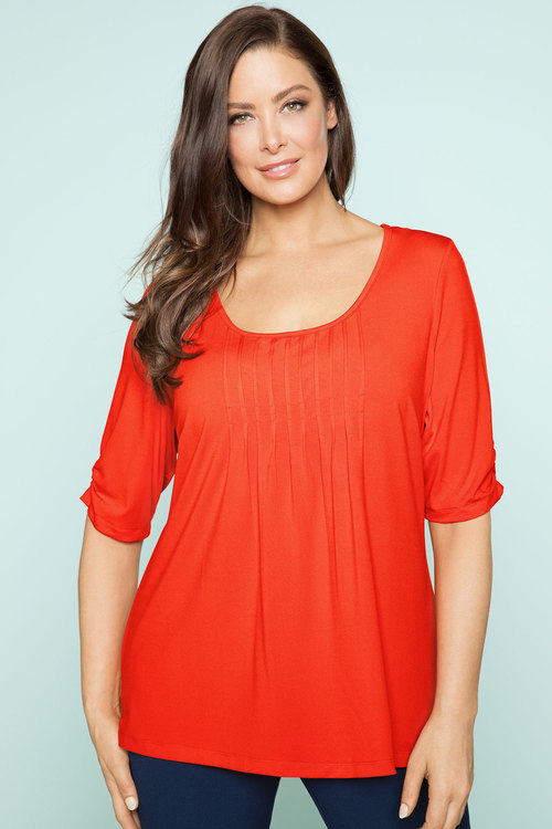 Plus Size - Sara Scoop Neck Tee