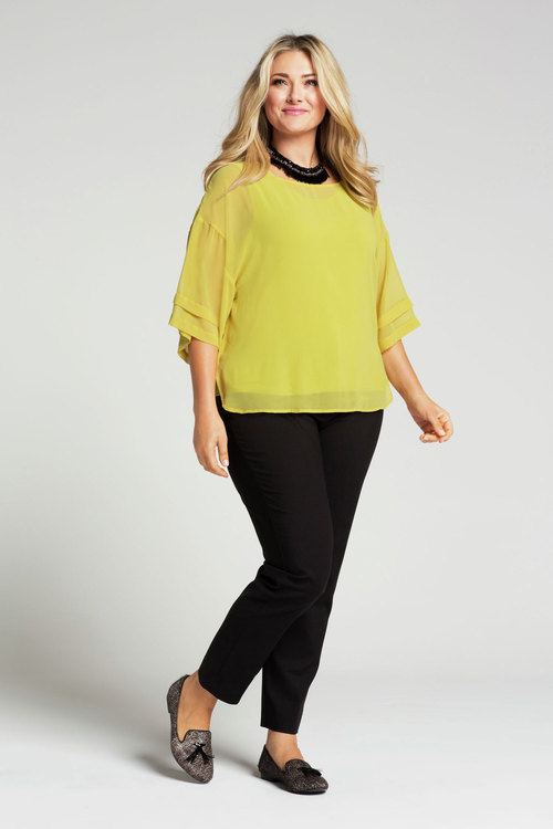 Plus Size - Capture Woman Layered Blouse
