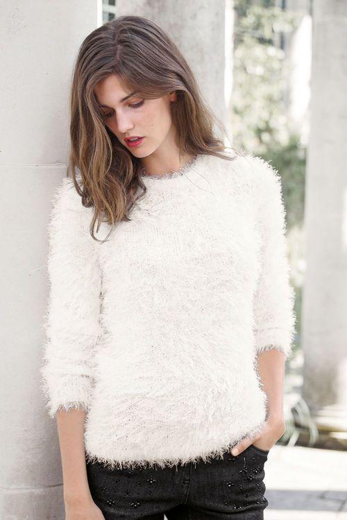 Next Faux Fur Sweater