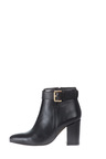 Plus Size - Wide Fit Sara Leather Block Heel Boot