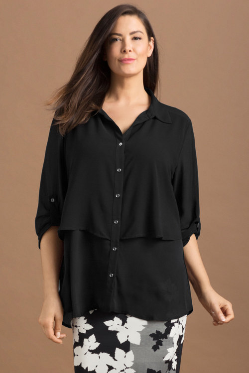 Plus Size - Sara Tiered Shirt