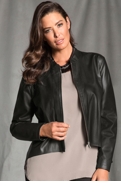 Plus Size - Grace Hill Woman Leather Jacket