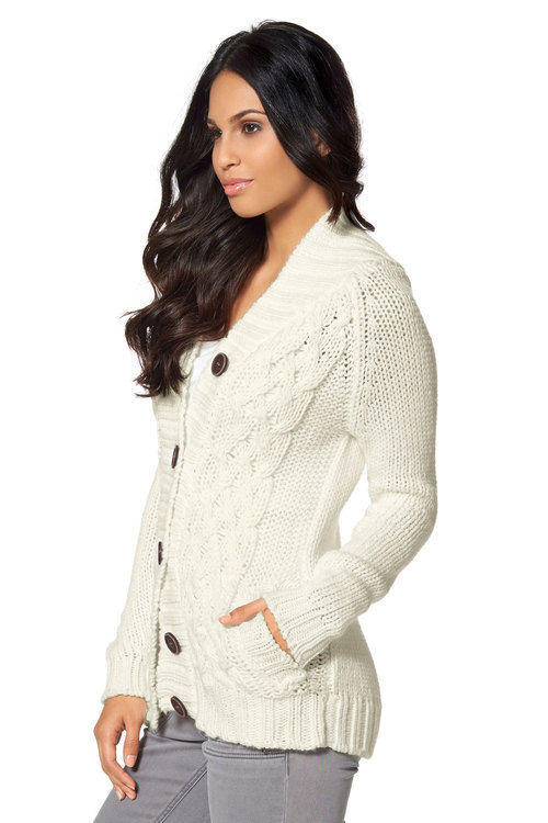Urban Cable Knit Cardigan