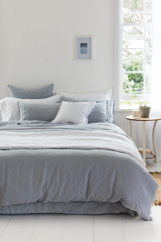 duvstripe cover striped duvet shop in stripe bed bedding white linen grey store