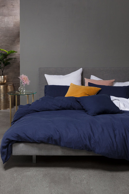 Hampton Linen Duvet Cover Set Online Shop Ezibuy