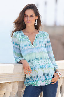 European Collection Printed Embellishment Top - 133750