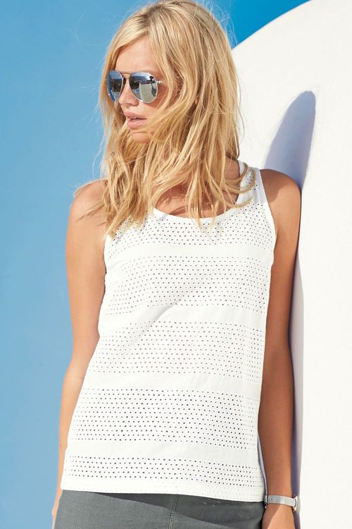 fe02c261393f Next Broderie Shell Top Online